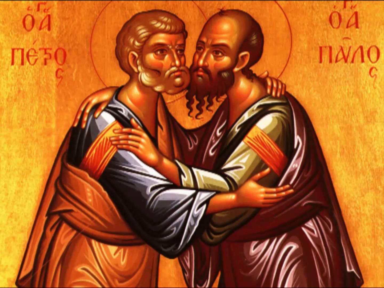 Αποτέλεσμα εικόνας για Αγίων ἐνδόξων καί πανευφήμων ᾽Αποστόλων καί Πρωτοκορυφαίων Πέτρου καί Παύλου